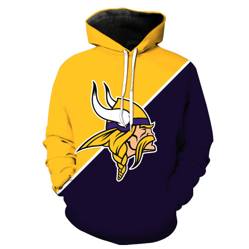 **(OFFICIALLY-LICENSED-N.F.L.MINNESOTA-VIKINGS-TRENDY-PULLOVER-TEAM-HOODIES/NICE-CUSTOM-3D-EFFECT-GRAPHIC-PRINTED-DOUBLE-SIDED-ALL-OVER-OFFICIAL-VIKINGS-LOGOS & IN-VIKINGS-OFFICIAL-TEAM-COLORS/WARM-PREMIUM-OFFICIAL-TEAM-PULLOVER-POCKET-HOODIES)**