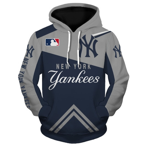 Official M L B New York Yankees Team Pullover Hoodies Nice Custom Detailed 3d Graphic Printed Premium All Over Double Sided Printing Official Yankees Team Colors Classic Yankees Baseball 3d Yankees Logo Graphics Premium Pullover Hoodies