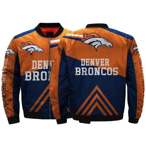 **(OFFICIALLY-LICENSED-N.F.L.DENVER-BRONCOS/CLASSIC-BRONCOS-OFFICIAL-TEAM-COLORS & OFFICIAL-BRONCOS-LOGOS,CLASSIC-BOMBER/MA-1 FLIGHT-JACKET & NICE-CUSTOM-3D-ALL-OVER-GRAPHIC-PRINTED-DOUBLE-SIDED-DESIGN/ZIP-UP-FRONT-BRONCOS-TEAM-FLIGHT-JACKETS)**