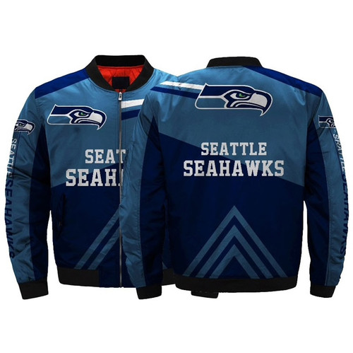 **(OFFICIALLY-LICENSED-N.F.L.SEATTLE-SEAHAWKS-JACKET/CLASSIC-SEAHAWKS-OFFICIAL-TEAM-COLORS & OFFICIAL-SEAHAWKS-LOGOS,CLASSIC-BOMBER/FLIGHT-JACKET & NICE-CUSTOM-3D-ALL-OVER-GRAPHIC-PRINTED-DOUBLE-SIDED-DESIGN/N.F.L.SEAHAWKS-TEAM-FLIGHT-JACKETS)**