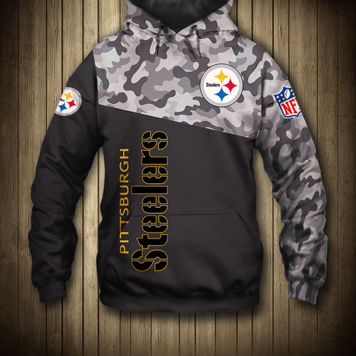 **(OFFICIAL-N.F.L.PITTSBURGH-STEELERS-CAMO.DESIGN-PULLOVER-HOODIES/3D-CUSTOM-STEELERS-LOGOS & OFFICIAL-STEELERS-TEAM-COLORS/NICE-3D-DETAILED-GRAPHIC-PRINTED-DOUBLE-SIDED/ALL-OVER-ENTIRE-HOODIE-PRINTED-DESIGN/WARM-PREMIUM-STEELERS-PULLOVER-HOODIES)**