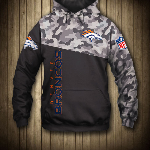 more photos a3e83 ccf5f **(OFFICIAL-N.F.L.DENVER-BRONCOS-CAMO.DESIGN-PULLOVER-HOODIES/3D-CUSTOM-BRONCOS-LOGOS  & OFFICIAL-BRONCOS-TEAM-COLORS/NICE-3D-DETAILED-GRAPHIC-PRINTED-...