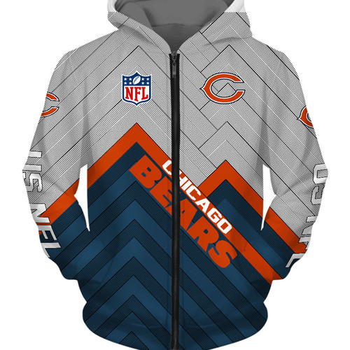 **(NEW-OFFICIAL-N.F.L.CHICAGO-BEARS-ZIPPERED-HOODIES/3D-CUSTOM-BEARS-LOGOS & OFFICIAL-BEARS-TEAM-COLORS/NICE-3D-DETAILED-GRAPHIC-PRINTED-DOUBLE-SIDED/ALL-OVER-ENTIRE-HOODIE-PRINTED-DESIGN/TRENDY-WARM-PREMIUM-N.F.L.BEARS-ZIPPERED-HOODIES)**