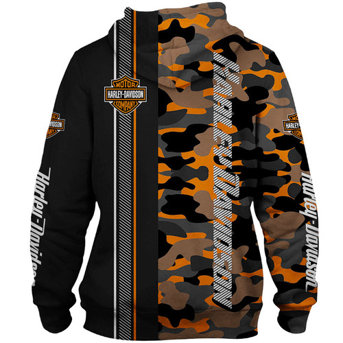 **(OFFICIAL-HARLEY-DAVIDSON-MOTORCYCLE-ORANGE-CAMO.PULLOVER-HOODIES/NICE-3D-CUSTOM-GRAPHIC-PRINTED & DOUBLE-SIDED-ALL-OVER-DESIGN/CLASSIC-OFFICIAL-CUSTOM-HARLEY-LOGOS & OFFICIAL-HARLEY-COLORS/WARM-PREMIUM-RIDING-HARLEY-BIKERS-PULLOVER-HOODIES)**