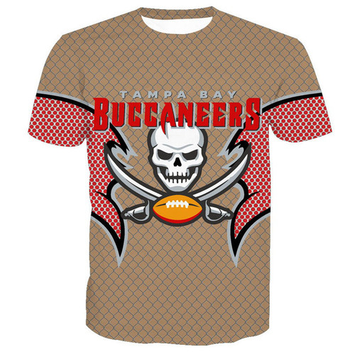 **(NEW-OFFICIALLY-LICENSED-N.F.L.TAMPA-BAY-BUCCANEERS-TEAM-TEES/NEW-CUSTOM-3D-GRAPHIC-PRINTED-DOUBLE-SIDED-DESIGNED/ALL-OVER-OFFICIAL-BUCCANEERS-LOGOS & IN-BUCCANEERS-TEAM-COLORS/NICE-PREMIUM-OFFICIAL-N.F.L.BUCCANEERS-TEAM/GAME-DAY-TEES)**