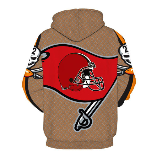 **(OFFICIALLY-LICENSED-N.F.L.TAMPA-BAY-BUCCANEERS-TEAM-PULLOVER-HOODIES/CUSTOM-3D-GRAPHIC-PRINTED-DOUBLE-SIDED-DESIGNED/ALL-OVER-OFFICIAL-BUCCANEERS-LOGOS & IN-BUCCANEERS-TEAM-COLORS/WARM-PREMIUM-OFFICIAL-N.F.L.BUCCANEERS-TEAM-PULLOVER-HOODIES)**