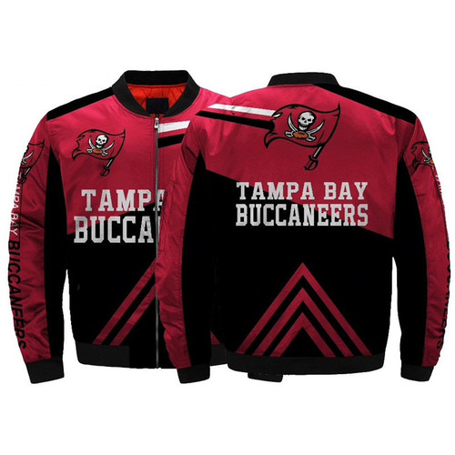 **(OFFICIAL-N.F.L.TAMPA-BAY-BUCCANEERS-JACKETS/CLASSIC-BUCCANEERS-TEAM-COLORS & OFFICIAL-BUCCANEERS-LOGOS-BOMBER/FLIGHT-JACKET,NICE-DETAILED-CUSTOM-3D-ALL-OVER-GRAPHIC-PRINTED/DOUBLE-SIDED-DESIGN/PREMIUM-N.F.L.BUCCANEERS-ZIPPERED-FLIGHT-JACKETS)**
