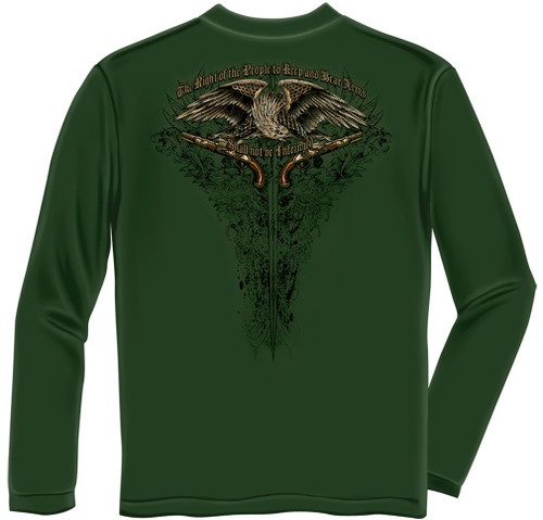 """**(NEW-TRENDY-OFFICIALLY-LICENSED,""""2ND-ADMENDMENT-SHALL-NOT-BE-INFRINGED & THE-RIGHT-OF-THE-PEOPLE-TO-KEEP/BEAR-ARMS"""",NICE-GRAPHIC-PRINTED-PREMIUM-DOUBLE-SIDED-LONG-SLEEVE-TEES:)**"""