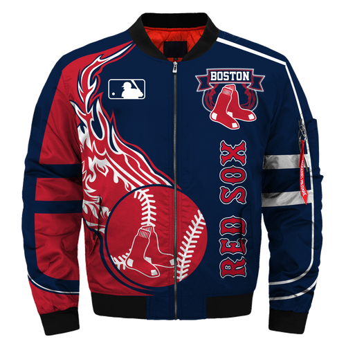 **(OFFICIAL-M.L.B.BOSTON-RED-SOXS-TEAM-FLIGHT-JACKETS/NICE-CUSTOM-DETAILED-3D-GRAPHIC-PRINTED/PREMIUM-ALL-OVER-DOUBLE-SIDED-PRINTING/OFFICIAL-RED-SOXS-TEAM-COLORS & CLASSIC-RED-SOXS-3D-LOGOS,PREMIUM-ZIPPERED-FRONT-BOMBER/FLIGHT-M.L.B.JACKETS)**
