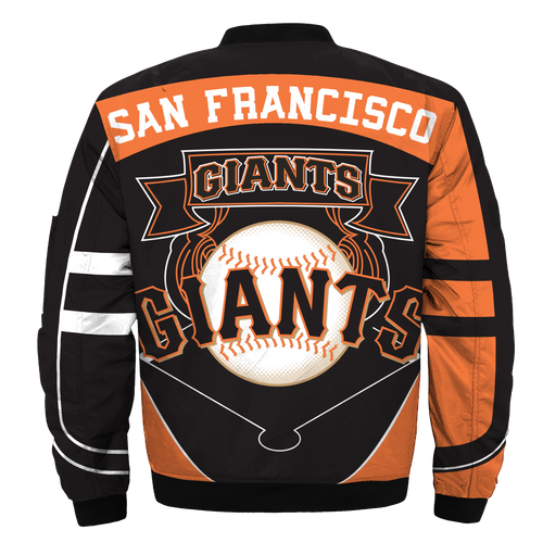 **(OFFICIAL-M.L.B.SAN-FRANCISCO-GIANTS-TEAM-FLIGHT-JACKETS/NICE-CUSTOM-DETAILED-3D-GRAPHIC-PRINTED/PREMIUM-ALL-OVER-DOUBLE-SIDED-PRINTING/OFFICIAL-GIANTS-TEAM-COLORS & CLASSIC-GIANTS-3D-LOGOS,PREMIUM-ZIPPERED-FRONT-BOMBER/FLIGHT-M.L.B.JACKETS)**