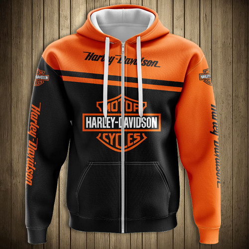 **(OFFICIALLY-LICENSED-HARLEY-DAVIDSON-ZIPPERED-HOODIES & OFFICIAL-HARLEY-BIKER-COLORS & OFFICIAL-CLASSIC-HARLEY-LOGOS/NICE-NEW-CUSTOM-3D-GRAPHIC-PRINTED-DOUBLE-SIDED-ALL-OVER-DESIGN/WARM-PREMIUM-CUSTOM-HARLEY-DAVIDSON-ZIPPERED-FRONT-HOODIES)**