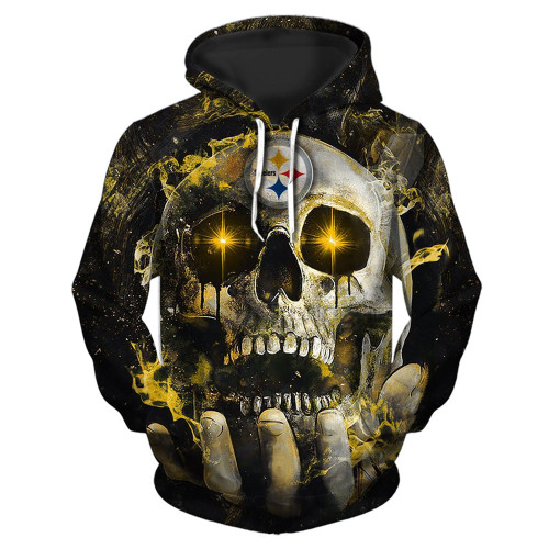 **(OFFICIAL-N.F.L.PITTSBURGH-STEELERS-TEAM-PULLOVER-NEON-SKULL-HOODIES/CUSTOM-3D-NEON-GRAPHIC-PRINTED-DOUBLE-SIDED-ALL-OVER-OFFICIAL-STEELERS-LOGOS & IN-STEELERS-TEAM-COLORS/WARM-PREMIUM-OFFICIAL-N.F.L.STEELERS/TRENDY-TEAM-PULLOVER-POCKET-HOODIES)**