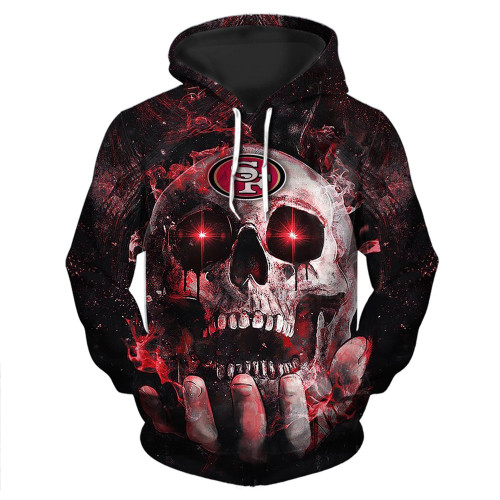 **(OFFICIAL-N.F.L.SAN-FRANCISCO-49ERS-TEAM-PULLOVER-NEON-SKULL-HOODIES/CUSTOM-3D-NEON-GRAPHIC-PRINTED-DOUBLE-SIDED-ALL-OVER-OFFICIAL-49ERS-LOGOS & IN-49ERS-TEAM-COLORS/WARM-PREMIUM-OFFICIAL-N.F.L.49ERS/TRENDY-NEW-TEAM-PULLOVER-POCKET-HOODIES)**
