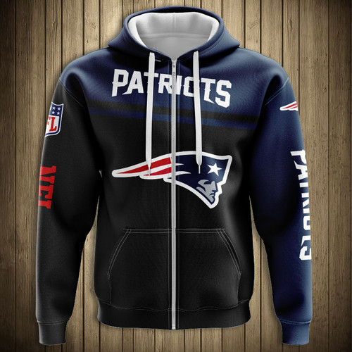 competitive price 74c7c 6b390 OFFICIAL-N.F.L.NEW-ENGLAND-PATRIOTS-ZIPPERED-HOODIES/3D ...