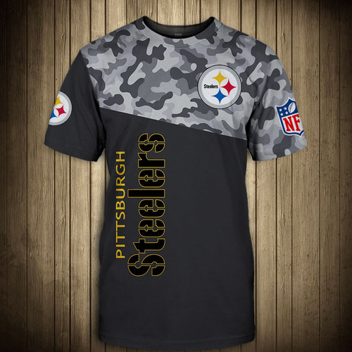 **(OFFICIAL-N.F.L.PITTSBURGH-STEELERS-CAMO.DESIGN-TEAM-TEES/CUSTOM-3D-STEELERS-OFFICIAL-LOGOS & OFFICIAL-STEELERS-TEAM-COLORS/NICE-DETAILED-3D-GRAPHIC-PRINTED-DOUBLE-SIDED/ALL-OVER-FRONT & BACK-GRAPHIC-PRINTED-DESIGN/PREMIUM-N.F.L.STEELERS-CAMO.TEAM-TEES)**