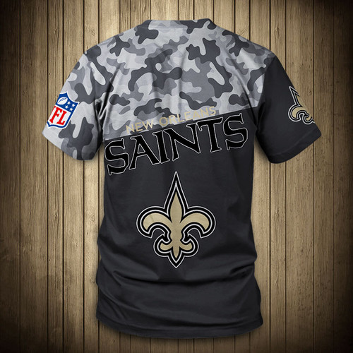 **(OFFICIAL-N.F.L.NEW-ORLEANS-SAINTS-CAMO.DESIGN-TEAM-TEES/CUSTOM-3D-SAINTS-OFFICIAL-LOGOS & OFFICIAL-SAINTS-TEAM-COLORS/DETAILED-3D-GRAPHIC-PRINTED-DOUBLE-SIDED/ALL-OVER-FRONT & BACK-GRAPHIC-PRINTED-DESIGN/PREMIUM-N.F.L.SAINTS-CAMO.TEAM-TEES)**