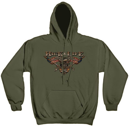**(OFFCIAL-BUCKWEAR,HICK-LIFE & 2ND-AMENDMENT,MY-FREEDOM,MY-FIGHT,MY-RIGHT & MY-HICK-LIFE,NICE-GRAPHIC-PRINTED-PREMIUM-PULLOVER-FLEECE-HOODIES:)**