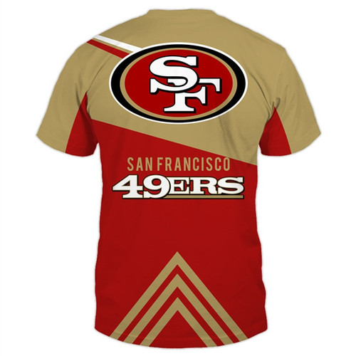 **(NEW-OFFICIAL-N.F.L.SAN-FRANCISCO-49ERS-TRENDY-TEAM-TEES/CUSTOM-3D-49ERS-OFFICIAL-LOGOS & OFFICIAL-CLASSIC-49ERS-TEAM-COLORS/DETAILED-3D-GRAPHIC-PRINTED-DOUBLE-SIDED/ALL-OVER-GRAPHIC-PRINTED-DESIGNED/PREMIUM-N.F.L.49ERS-GAME-DAY-TEAM-TEES)**
