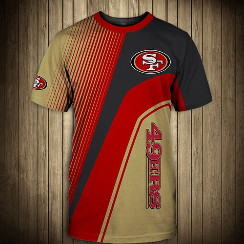 **(OFFICIAL-NEW-N.F.L.SAN-FRANCISCO-49ERS-TRENDY-TEAM-TEES/CUSTOM-3D-49ERS-OFFICIAL-LOGOS & OFFICIAL-CLASSIC-49ERS-TEAM-COLORS/DETAILED-3D-GRAPHIC-PRINTED-DOUBLE-SIDED/ALL-OVER-GRAPHIC-PRINTED-DESIGNED/PREMIUM-N.F.L.49ERS-GAME-DAY-TEAM-TEES)**