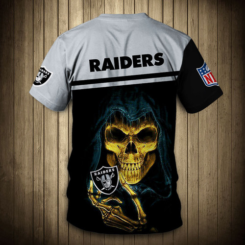 **(OFFICIAL-N.F.L.OAKLAND-RAIDERS-TRENDY-TEAM-TEES/CUSTOM-3D-RAIDERS-OFFICIAL-LOGOS & OFFICIAL-CLASSIC-RAIDERS-TEAM-COLORS/DETAILED-3D-GRAPHIC-PRINTED-DOUBLE-SIDED/ALL-OVER-GRAPHIC-PRINTED-DESIGN/PREMIUM-N.F.L.RAIDERS-TEAM-GAME-DAY-TEES)**