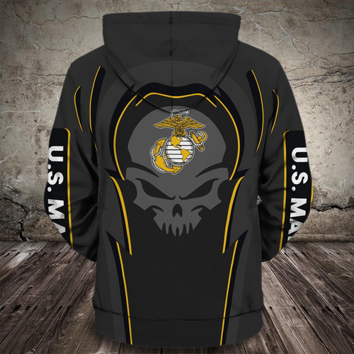 **(NEW-OFFICIAL-U.S.MARINE-VETERANS-ZIPPERED-HOODIES/PUNISHER-SKULL & OFFICIAL-CLASSIC-MARINES-GLOBE & ANCHOR-EMBLEM/NICE-3D-CUSTOM-DETAILED-GRAPHIC-PRINTED/DOUBLE-SIDED-ALL-OVER-PRINTED-SLEEVE-DESIGNED/WARM-PREMIUM-ZIPPERED-U.S.MARINES-HOODIES)**