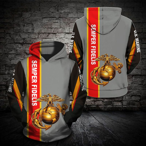 **(NEW-OFFICIAL-U.S.MARINE-VETERANS-PULLOVER-HOODIES/SEMPER-FIDELIS & OFFICIAL-CLASSIC-MARINES-GLOBE & ANCHOR-EMBLEM/NICE-3D-CUSTOM-DETAILED-GRAPHIC-PRINTED/DOUBLE-SIDED-ALL-OVER-PRINTED-DESIGN/WARM-PREMIUM-PULLOVER-U.S.MARINES-HOODIES)**