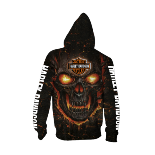 **(OFFICIAL-HARLEY-DAVIDSON-MOTORCYCLE-ZIPPERED-HOODIES/3D-GRAPHIC-PRINTED-ORANGE-GLOWING-SKULL-DESIGN/FEATURING-OFFICIAL-CUSTOM-HARLEY-LOGOS & OFFICIAL-CLASSIC-HARLEY-COLORS/3D-DOUBLE-SIDED-ALL-OVER-GRAPHIC-DESIGN/PREMIUM-HARLEY-RIDING-HOODIES)**