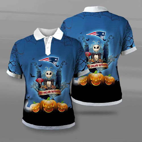 **(OFFICIAL-N.F.L.NEW-ENGLAND-PATRIOTS-TEAM-FASHION-POLO-SHIRTS/CUSTOM-3D-PATRIOTS-OFFICIAL-LOGOS & OFFICIAL-CLASSIC-PATRIOTS-TEAM-COLORS/DETAILED-3D-GRAPHIC-PRINTED-DOUBLE-SIDED-DESIGN/PREMIUM-N.F.L.PATRIOTS-HALLOWEEN-NIGHTMARE-THEMED-POLO-SHIRTS)**