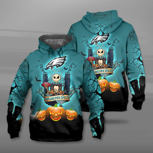 **(OFFICIAL-N.F.L.PHILADELPHIA-EAGLES-TEAM-PULLOVER-HOODIES/CUSTOM-3D-EAGLES-OFFICIAL-LOGOS & OFFICIAL-CLASSIC-EAGLES-TEAM-COLORS/DETAILED-3D-GRAPHIC-PRINTED-DOUBLE-SIDED-DESIGN/PREMIUM-N.F.L.EAGLES-HALLOWEEN-NIGHTMARE-THEMED-HOODIES)**
