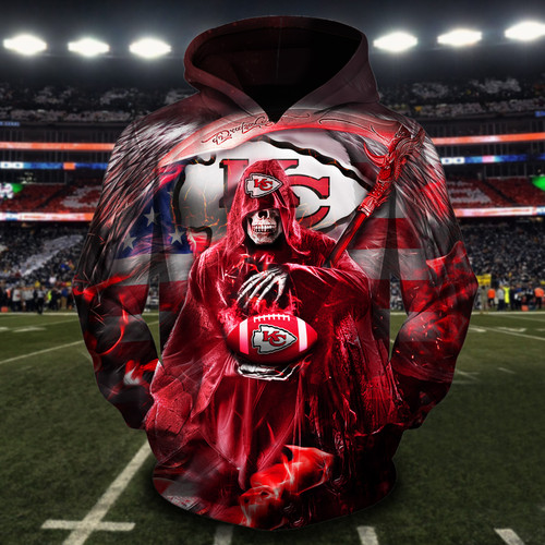 **(OFFICIAL-N.F.L.KANSAS-CITY-CHIEFS-TEAM-PULLOVER-HOODIES/CUSTOM-3D-CHIEFS-OFFICIAL-LOGOS & OFFICIAL-CLASSIC-CHIEFS-TEAM-COLORS/DETAILED-3D-GRAPHIC-PRINTED-DOUBLE-SIDED-DESIGN/PREMIUM-N.F.L.CHIEFS-PATRIOTIC-GRIMM-REAPER & SUDDEN-DEATH-HOODIES)**