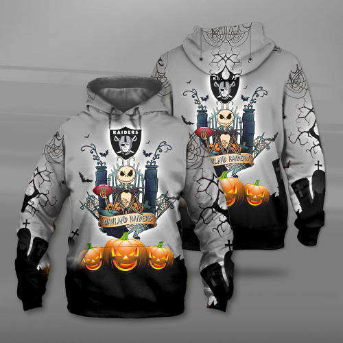 **(OFFICIAL-N.F.L.OAKLAND-RAIDERS-TEAM-PULLOVER-HOODIES/CUSTOM-3D-RAIDERS-OFFICIAL-LOGOS & OFFICIAL-CLASSIC-RAIDERS-TEAM-COLORS/DETAILED-3D-GRAPHIC-PRINTED-DOUBLE-SIDED-DESIGN/PREMIUM-N.F.L.RAIDERS-HALLOWEEN-NIGHTMARE-THEMED-PULLOVER-HOODIES)**