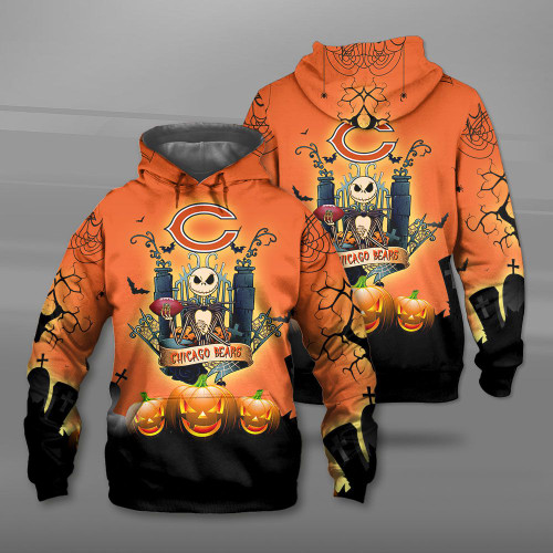 **(OFFICIAL-N.F.L.CHICAGO-BEARS-TEAM-PULLOVER-HOODIES/CUSTOM-3D-BEARS-OFFICIAL-LOGOS & OFFICIAL-CLASSIC-BEARS-TEAM-COLORS/DETAILED-3D-GRAPHIC-PRINTED-DOUBLE-SIDED-DESIGN/PREMIUM-N.F.L.BEARS-HALLOWEEN-NIGHTMARE-THEMED-PULLOVER-HOODIES)**