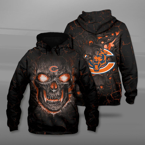 **(OFFICIAL-N.F.L.CHICAGO-BEARS-TEAM-PULLOVER-HOODIES/CUSTOM-3D-BEARS-OFFICIAL-LOGOS & OFFICIAL-CLASSIC-BEARS-TEAM-COLORS/DETAILED-3D-GRAPHIC-PRINTED-DOUBLE-SIDED-DESIGN/PREMIUM-N.F.L.BEARS & BIG-FIREY-SKULL-THEMED-PULLOVER-HOODIES)**