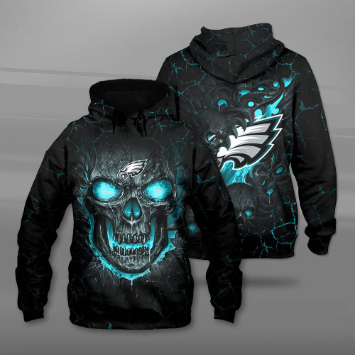 **(OFFICIAL-N.F.L.PHILADELPHIA-EAGLES-TEAM-PULLOVER-HOODIES/CUSTOM-3D-EAGLES-OFFICIAL-LOGOS & OFFICIAL-CLASSIC-EAGLES-TEAM-COLORS/DETAILED-3D-GRAPHIC-PRINTED-DOUBLE-SIDED-DESIGN/PREMIUM-N.F.L.EAGLES & BIG-FIREY-SKULL-THEMED-PULLOVER-HOODIES)**