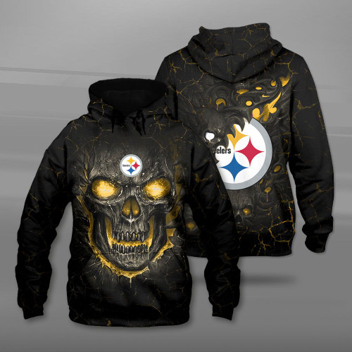 **(OFFICIAL-N.F.L.PITTSBURGH-STEELERS-TEAM-PULLOVER-HOODIES/CUSTOM-3D-STEELERS-OFFICIAL-LOGOS & OFFICIAL-CLASSIC-STEELERS-TEAM-COLORS/DETAILED-3D-GRAPHIC-PRINTED-DOUBLE-SIDED-DESIGN/PREMIUM-N.F.L.STEELERS & BIG-FIREY-SKULL-THEMED-PULLOVER-HOODIES)**