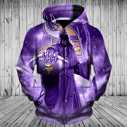 **(OFFICIAL-N.F.L.MINNESOTA-VIKINGS-TEAM-PULLOVER-HOODIES/CUSTOM-3D-VIKINGS-OFFICIAL-LOGOS & OFFICIAL-CLASSIC-VIKINGS-TEAM-COLORS/DETAILED-3D-GRAPHIC-PRINTED-DOUBLE-SIDED-DESIGN/PREMIUM-N.F.L.VIKINGS-GRIMM-REAPER & SUDDEN-DEATH-PULLOVER-HOODIES)**