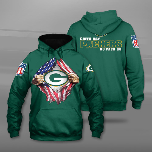 **(OFFICIAL-N.F.L.GREEN-BAY-PACKERS-TEAM-PULLOVER-HOODIES/CUSTOM-3D-PACKERS-OFFICIAL-LOGOS & OFFICIAL-CLASSIC-PACKERS-TEAM-COLORS/DETAILED-3D-GRAPHIC-PRINTED-DOUBLE-SIDED-DESIGN/PREMIUM-N.F.L.PACKERS & U.S.A.PATRIOTIC-FLAG-THEMED-PULLOVER-HOODIES)**