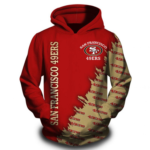 **(OFFICIAL-N.F.L.SAN-FRANCISCO-49ERS-TEAM-PULLOVER-HOODIES/CUSTOM-3D-49ERS-OFFICIAL-LOGOS & OFFICIAL-CLASSIC-49ERS-TEAM-COLORS/DETAILED-3D-GRAPHIC-PRINTED-DOUBLE-SIDED-DESIGN/WARM-PREMIUM-N.F.L.49ERS-TEAM-GAME-DAY-PULLOVER-HOODIES)**