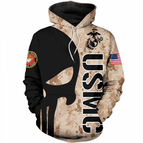 **(OFFICIAL-U.S.MARINE-DIGITAL-CAMO.PULLOVER-HOODIES/PUNISHER-SKULL & OFFICIAL-CLASSIC-MARINES-GLOBE & ANCHOR-EMBLEM/NICE-3D-CUSTOM-DETAILED-GRAPHIC-PRINTED/DOUBLE-SIDED-ALL-OVER-PRINTED-SLEEVE-DESIGNED/WARM-PREMIUM-PULLOVER-U.S.MARINES-HOODIES)**
