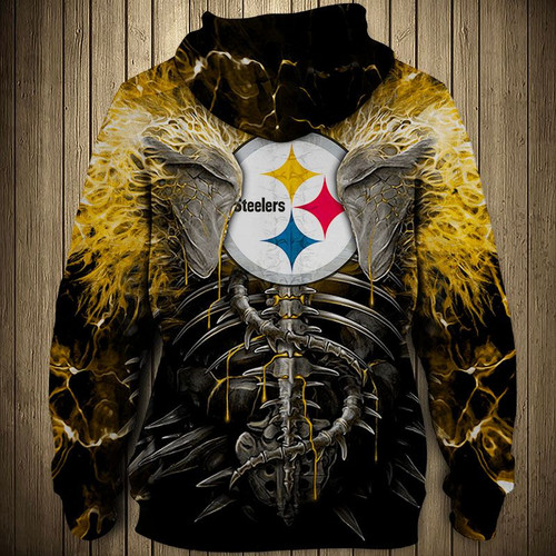**(OFFICIAL-N.F.L.PITTSBURGH-STEELERS-PULLOVER-HOODIES/CUSTOM-3D-NEON-YELLOW-STEELERS-ELECTRIC-SCREAM'IN-SKULLS-PREMIUM-3D-GRAPHIC-PRINTED-STEELERS-LOGOS & OFFICIAL-CLASSIC-STEELERS-TEAM-COLORS/DOUBLE-SIDED-ALL-OVER-DESIGN-PULLOVER-TEAM-HOODIES)**
