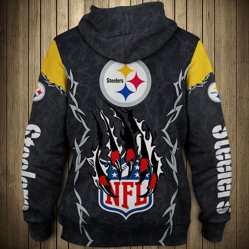 **(OFFICIAL-N.F.L.PITTSBURGH-STEELERS-TRENDY-TEAM-ZIPPERED-HOODIES/NEW-CUSTOM-3D-GRAPHIC-PRINTED-DOUBLE-SIDED-ALL-OVER-DESIGN & GRAPHIC-STEELERS-LOGOS & OFFICIAL-STEELERS-TEAM-COLORS/WARM-PREMIUM-OFFICIAL-N.F.L.STEELERS-TEAM-ZIPPERED-GAME-DAY-HOODIES)**