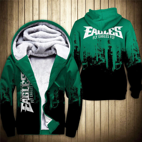 **(OFFICIAL-N.F.L.PHILADELPHIA-EAGLES-FLEECE-ZIPPERED-HOODIES & FLY-EAGLES-FLY/OFFICIAL-TEAM-LOGOS & OFFICIAL-CLASSIC-TEAM-COLORS/NICE-CUSTOM-3D-GRAPHIC-PRINTED-DOUBLE-SIDED-ALL-OVER-DESIGN/WARM-PREMIUM-FLEECE-LINED-EAGLES-TEAM-ZIP-UP-HOODIES)**