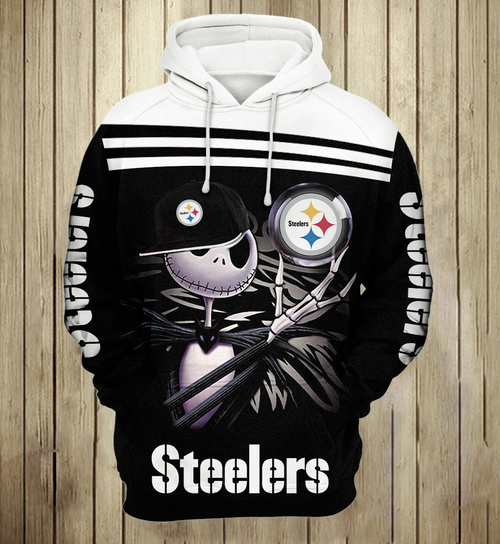 **(OFFICIAL-N.F.L.PITTSBURGH-STEELERS-PULLOVER-HOODIES/CUSTOM-DETAILED-3D-GRAPHIC-PRINTED-DOUBLE-SIDED-HOODIE/JACK-SKELETON-HORROR-MOVIE-CHARACTER-THEMED-DESIGN/OFFICIAL-CLASSIC-STEELERS-TEAM-COLORS & OFFICIAL-STEELERS-TEAM-LOGOS-GAME-DAY-HOODIES)**