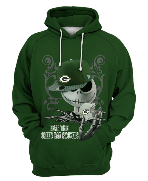 **(OFFICIAL-N.F.L.GREEN-BAY-PACKERS-PULLOVER-HOODIES/CUSTOM-DETAILED-3D-GRAPHIC-PRINTED-DOUBLE-SIDED-HOODIE/JACK-SKELETON-HORROR-MOVIE-CHARACTER-THEMED-DESIGN/OFFICIAL-CLASSIC-PACKERS-TEAM-COLORS & OFFICIAL-PACKERS-TEAM-LOGOS-GAME-DAY-HOODIES)**