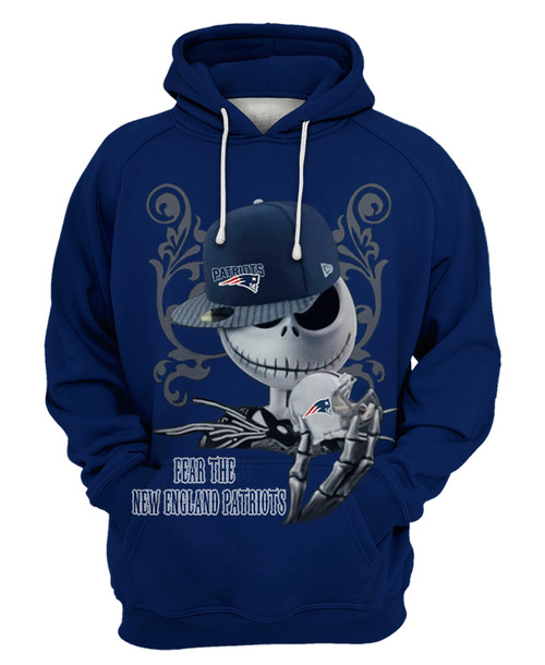 **(OFFICIAL-N.F.L.NEW-ENGLAND-PATRIOTS-PULLOVER-HOODIES/CUSTOM-DETAILED-3D-GRAPHIC-PRINTED-DOUBLE-SIDED-HOODIE/JACK-SKELETON-HORROR-MOVIE-CHARACTER-THEMED-DESIGN/OFFICIAL-CLASSIC-PATRIOTS-TEAM-COLORS & OFFICIAL-PATRIOTS-TEAM-LOGOS-GAME-DAY-HOODIES)**
