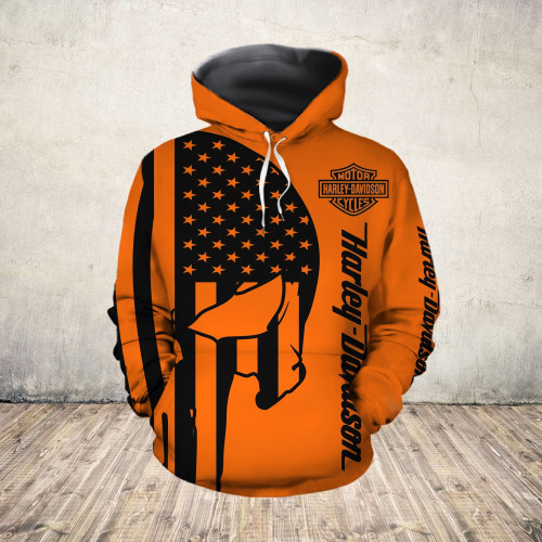 **(OFFICIAL-HARLEY-DAVIDSON-MOTORCYCLE-PULLOVER-HOODIES/3D-GRAPHIC-PRINTED-PATRIOTIC-FLAG & PUNISHER-SKULL-DESIGN/FEATURING-OFFICIAL-CUSTOM-HARLEY-LOGOS & OFFICIAL-CLASSIC-HARLEY-COLORS/3D-DOUBLE-SIDED-ALL-OVER-GRAPHIC-DESIGN/WARM-PREMIUM-HARLEY-RIDING-HOODIES)**