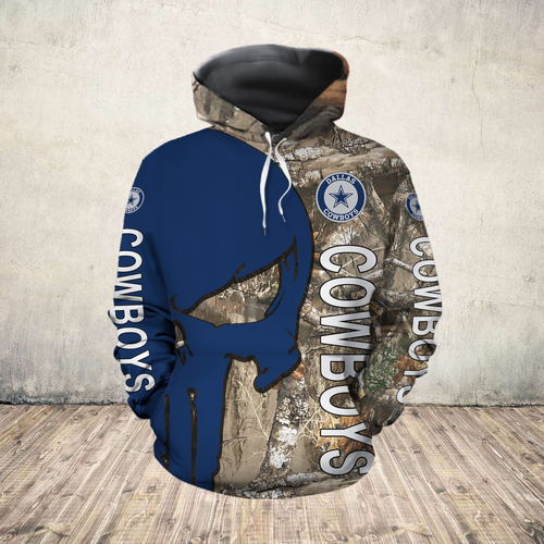 **(OFFICIAL-N.F.L.DALLAS-COWBOYS-PULLOVER-HOODIES/NICE-DETAILED-3D-CUSTOM-GRAPHIC-PRINTED-REAL-TREE-CAMO. PUNISHER-SKULL-DESIGN/FEATURING-OFFICIAL-CUSTOM-COWBOYS-LOGOS & OFFICIAL-CLASSIC-COWBOYS-COLORS/WARM-PREMIUM-COWBOYS-TEAM-PULLOVER-HOODIES)**