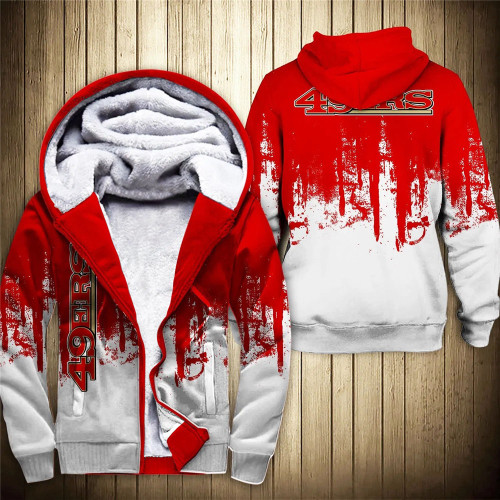 **(OFFICIAL-N.F.L.SAN-FRANCISCO-49ERS-FLEECE-ZIPPERED-HOODIES/OFFICIAL-49ERS-TEAM-LOGOS & OFFICIAL-CLASSIC-49ERS-TEAM-COLORS/CUSTOM-3D-GRAPHIC-PRINTED-DOUBLE-SIDED-ALL-OVER-DESIGN/WARM-PREMIUM-FLEECE-LINED-49ERS-TEAM-ZIPERED-HOODIES)**