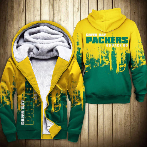**(OFFICIAL-N.F.L.GREEN-BAY-PACKERS-FLEECE-ZIPPERED-HOODIES & GO-PACK-GO/OFFICIAL-PACKERS-TEAM-LOGOS & OFFICIAL-CLASSIC-PACKERS-TEAM-COLORS/CUSTOM-DETAILED-3D-GRAPHIC-DOUBLE-SIDED-PRINTED/WARM-PREMIUM-FLEECE-LINED-PACKERS-TEAM-ZIPERED-HOODIES)**
