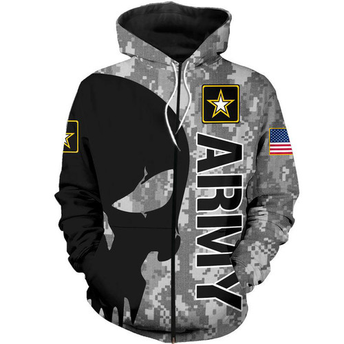 **(OFFICIAL-U.S.ARMY-VETERANS-ZIPPERED-HOODIES/CLASSIC-PUNISHER-SKULL & CLASSIC-ARMY-DIGITAL-CAMO.DESIGN & OFFICIAL-ARMY-LOGOS/CUSTOM-3D-DETAILED-GRAPHIC-PRINTED/DOUBLE-SIDED-ALL-OVER-PRINTED-SLEEVE-DESIGNED/WARM-PREMIUM-ZIPPERED-U.S.ARMY-HOODIES)**